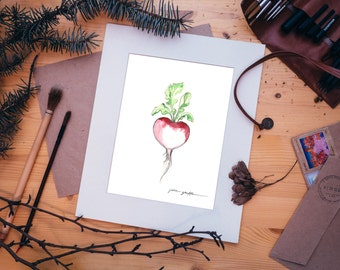 Watercolor Veggie Prints