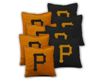 PITTSBURGH PIRATES Set of 8 ACA Regulation Cornhole Bags Bean Bag Toss