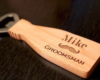 Engraved Bottle Opener, Personalized Bottle Opener, Maple Wood, Groomsman Gift, Groom, Father of the Bride, Best Man Gift, Personalized Gift