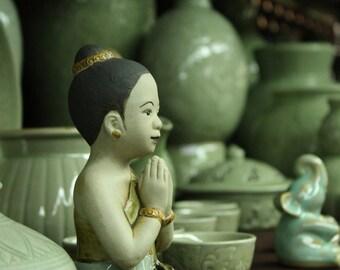 Celadon Green Ceramic Sawatdee Girl 8x10 Photograph