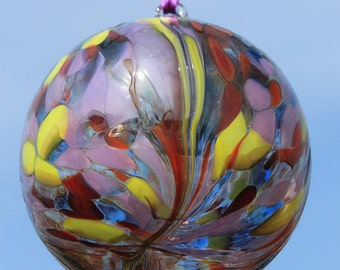 Tequila Sunrise Handblown Glass Friendship Ball 10m