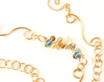 Handmade Mix-&-MatchNecklace - Copper Seas