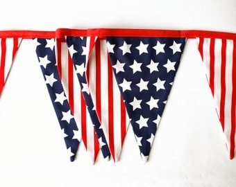 Independence Day Banner, Fourth of July Bunting, Summer Decor