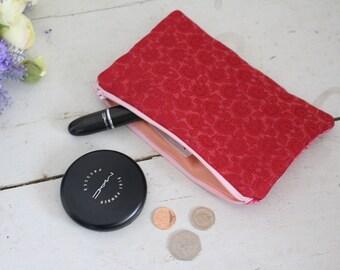 SALE // Colourful Pouch, Two Tone Pouch, Zipper Pouch, Cotton Pouch, Makeup Pouch, Pencil Case