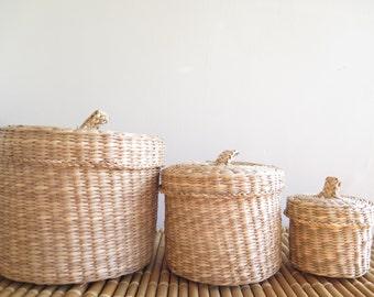 basket set / round baskets / storage