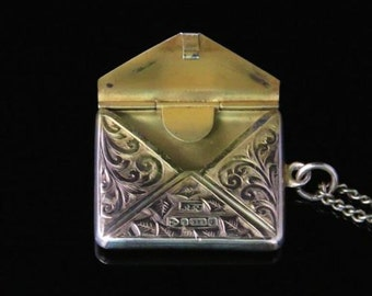 Victorian Rose Gold Stamp Case And Chain Dated Chester 1909