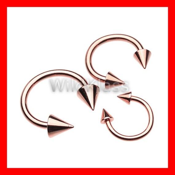 Rose Gold Horseshoe Spike Ring - 30.6KB