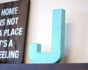 Painted 3d Letters, Dimensional Letters, Paper Mache Letters, Family Initials, Kids Room Decor, Nursery Decor, Letters for  Propping Up