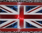 "Philography Painting & Wrapped Wire by Nails; Collection Code: ""The United Kingdom Flag"" (Frame; ...., Size;30cm X 52cm, Weight; 2 Kg.)"