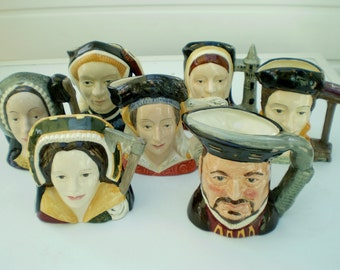 Royal Doulton China - Character Jugs - Henry VIII and His Six Wives - 1970's - England - UK