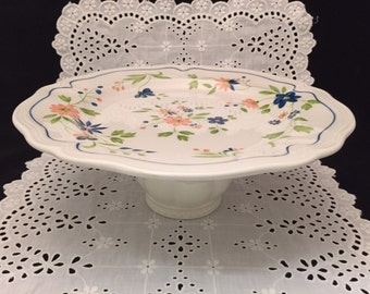 Country French Ironstone 4453 2-8 Cake Stand