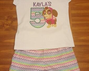 Kids Appliqued Birthday Shirt- Number w/Design- Boys- Girls