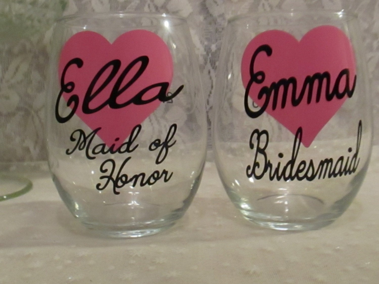 Wine glass decal only diy custom personalized bridal for Do it yourself wine glasses