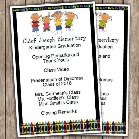 kindergarten graduation half sheet blank editable program. Black Bedroom Furniture Sets. Home Design Ideas