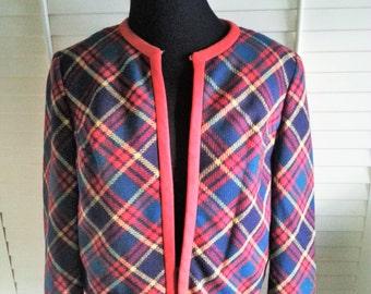Vintage jacket, 1950's vintage jacket, 1950's wool jacket, vintage red jacket, vintage devonbrook jacket