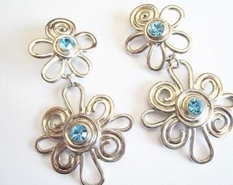 Long Avon Dangle Clip Earrings
