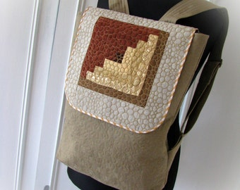 Backpack, Rucksack, patchwork Backpack, handmade Backpack, comfortable Backpack, patchwork Bag