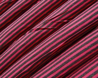 Pink Base Cotton Fabric With Stripe Print Fabric Curtain Making Fabric For Sewing Crafting Material Indian Stripes Fabric By 1 Yard ZBC511