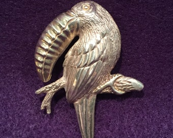 Taxco Toucan Pin -  Sterling - CA 1970's