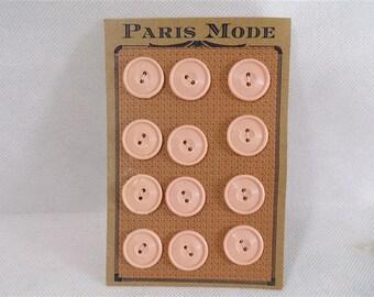 Pink set of 2 cards of buttons / paris fashion / vintage paris / vintage fashion / sewing / pin up dress / vintagefr / french vintage.