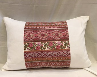 FRENCH Linen Pillow Cover, Vintage Ticking Linens Repurposed Pillows Home Decor Bedding Shabby Chic Cushion Cover Case Country Cottage Decor