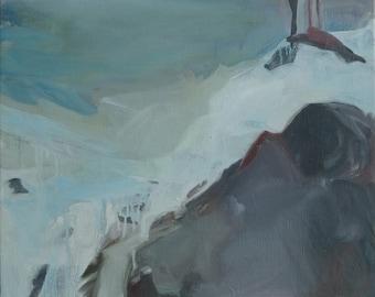 Peinture paysage scandinave minimaliste abstrait