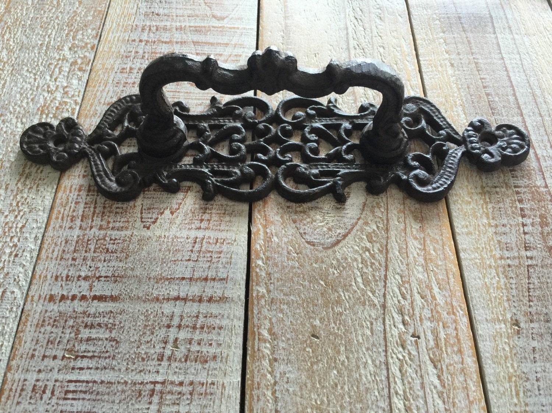 Handle pull rustic cast iron drawer door