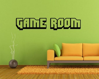 video game wall decals etsy. Black Bedroom Furniture Sets. Home Design Ideas
