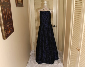 Vintage royal blue evening gown