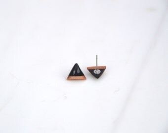 Triangle earrings, everyday earrings, stud earrings, bridesmaids gifts, gifts for her, small earrings