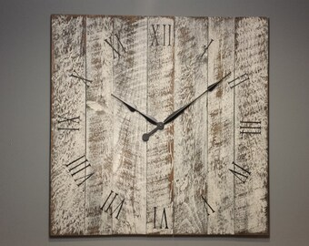 "30"" Rustic Wall Clock. Made from rough cut lumber and distressed to give it that reclaimed barn wood look."