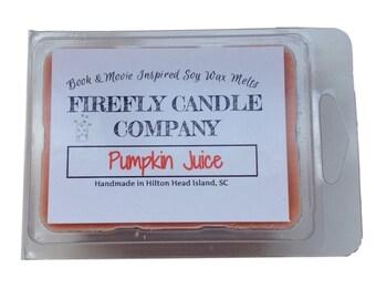 Pumpkin Juice Soy Wax Tarts- Book Inspired Wax Melts