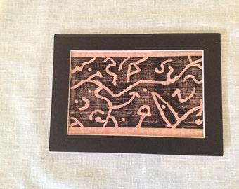 Abstract Ideas - Woodblock Print