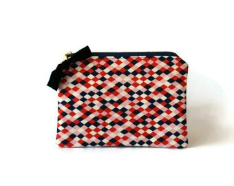 Flat Zipper Pouch / Makeup Bag / Toiletry Pouch / Cosmetic Bag / Waterproof Lining