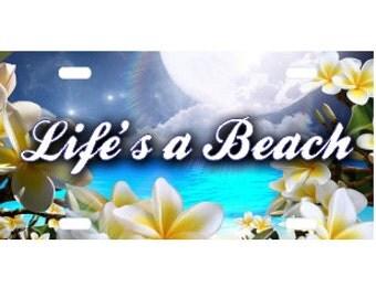 Life's a  Beach License Plate