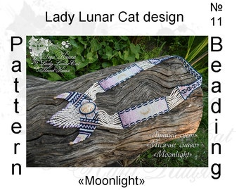Gerdan necklace pattern, Herringbone stitch patterns, Moonlight patterns, Peyote pattern, Moon patterns, Jewelry patterns