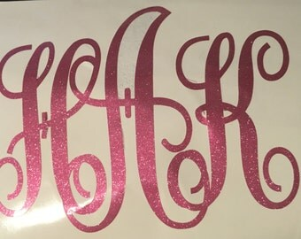Scroll Monogram Decal~over 45 colors to choose from!~