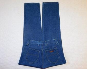 Vintage 80s-90s Wrangler Jeans Highwaist USA Straight Leg Tag States 12 Waist Measured 29 Inches