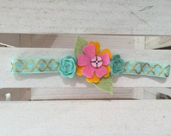 Flower heabands, Rosettes heaband, Baptism headbands, Birthday headband, Floral headbands, Courture headbands, Pink headbands