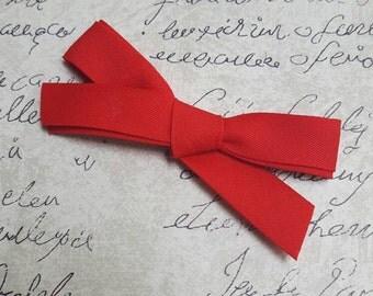 Girls red school girl bow