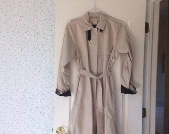 Women's vintage beige trench coat