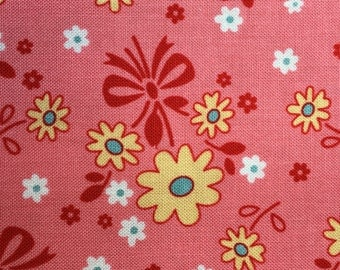 Calico Days Pink Cotton  Fabric