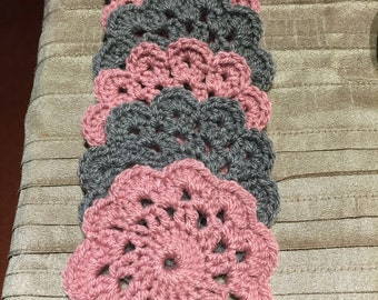 Handmade Crochet Flower Coasters