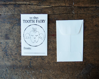 Tooth Fairy Envelopes (Pack of 5) - Letterpressed