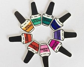 Nail Lacquer Pin [brooch lapel pin nail polish]