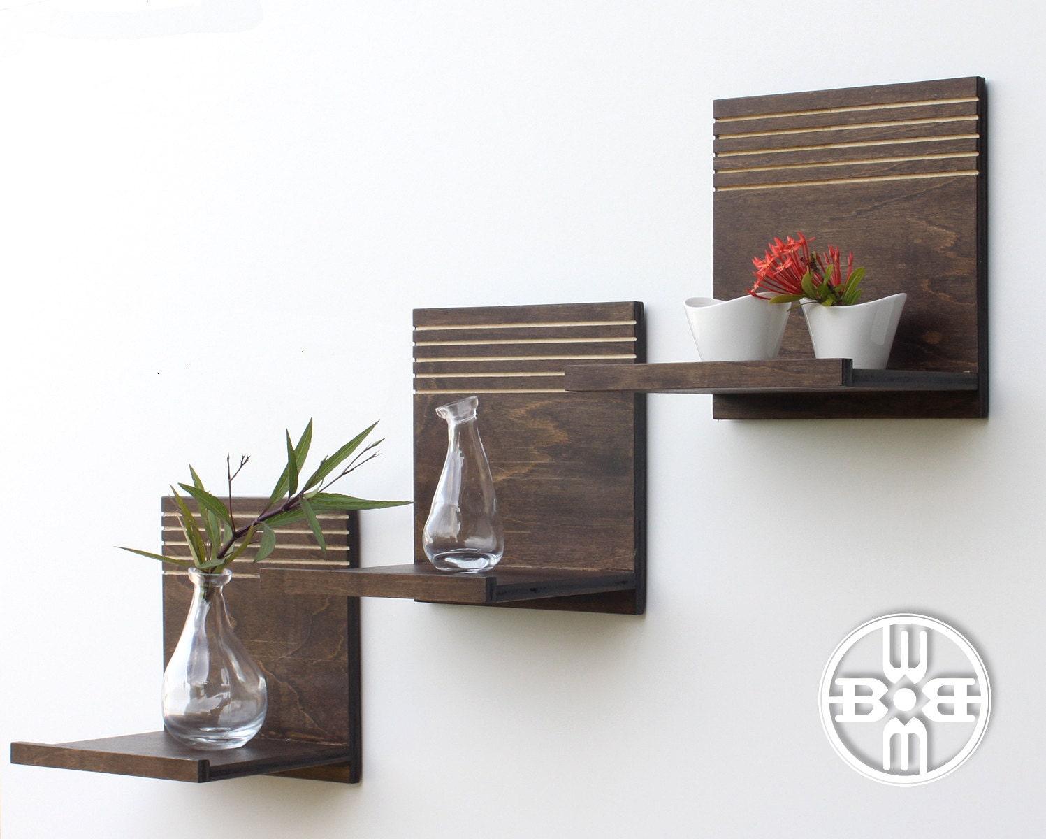 Modern Floating Shelves X3 Entryway Shelves Hanging