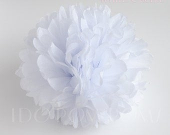 White Orchid Tissue Paper Pom Poms - Wedding Party Decorations - Baby shower Decorations