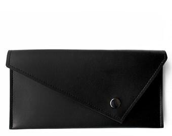 Black Envelope Vegan Wallet