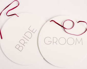 Sign - Bride and Groom (set)