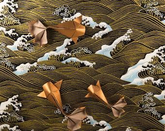 Handmade Origami Koi Fish, Shadow Box Frame, Japanese Paper,  Origami Art, Framed Wall Art, Housewarming Gift, Origami Koi Fish, 3D Wall Art